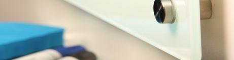 Tableau blanc en verre Solid